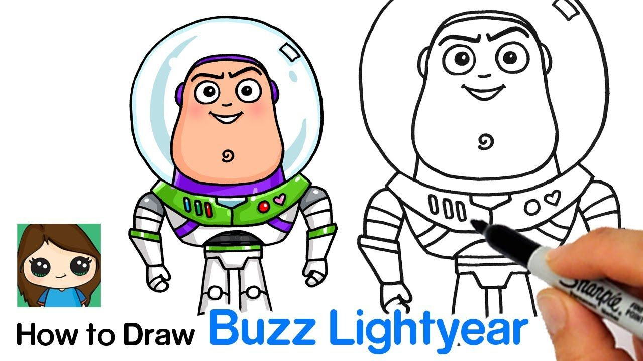 How To Draw Buzz Lightyear Toy Story Cute Drawings Buzz Lightyear Design Quotes Art