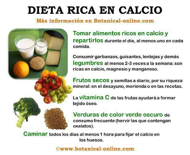 Oxalato de calcio alimentos que lo contienen