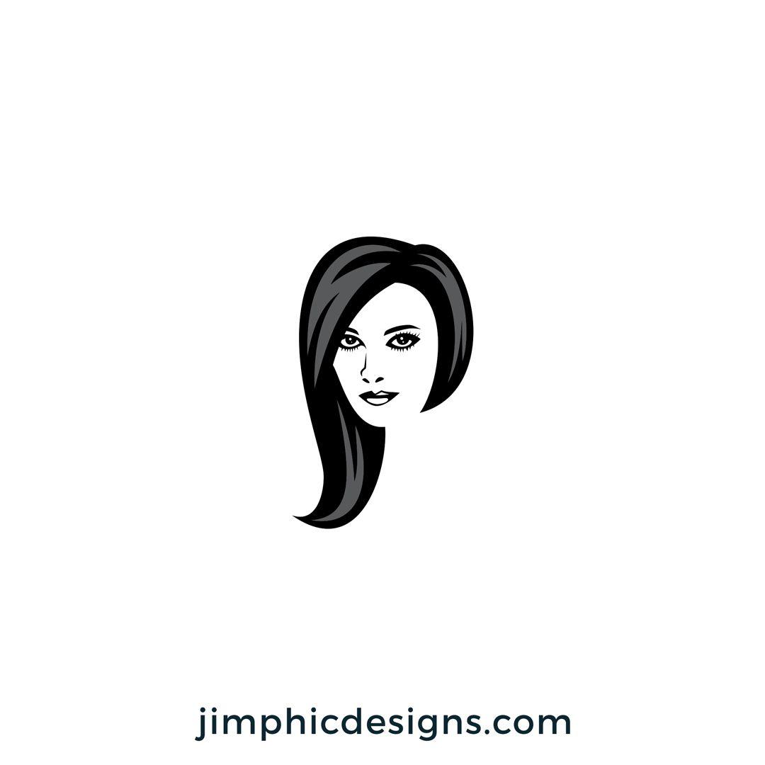 P Hair Logo Hair Logo Logo Design Business Logo Design