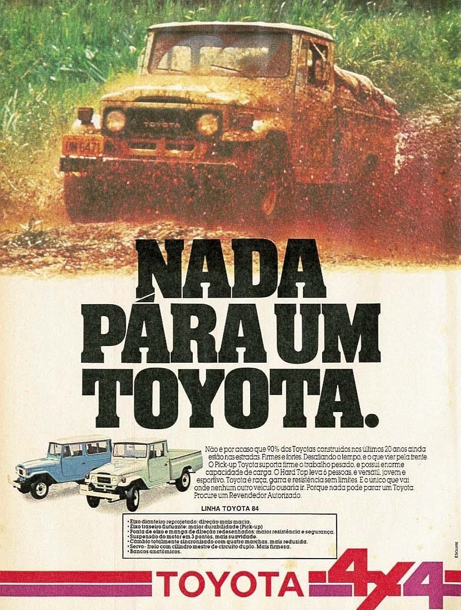 Toyota Bandeirante 1984 Toyota Toyota Toyota Bandeirante