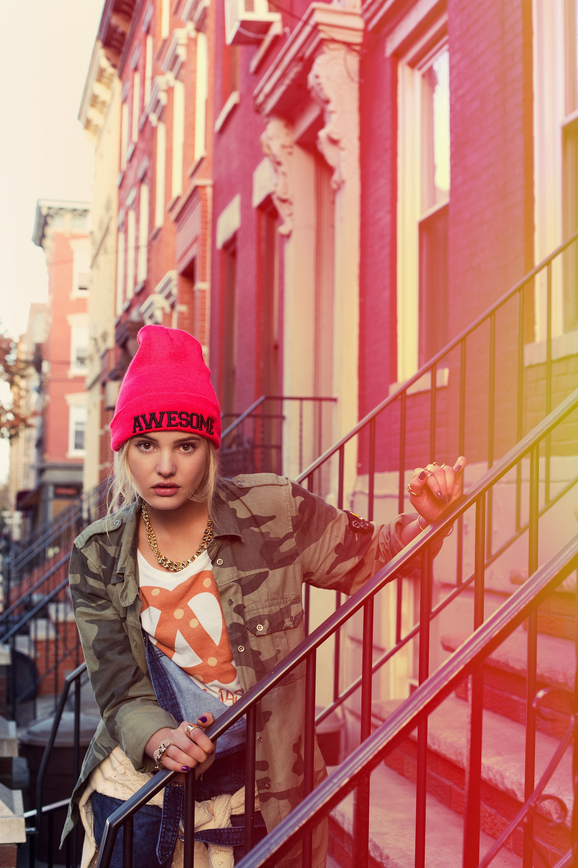 FW14 #Todomoda #BrooklynWinter ▶ Pretzel T-Shirt + Awesome Beanie. Model: Paige Reifler, New York Models.