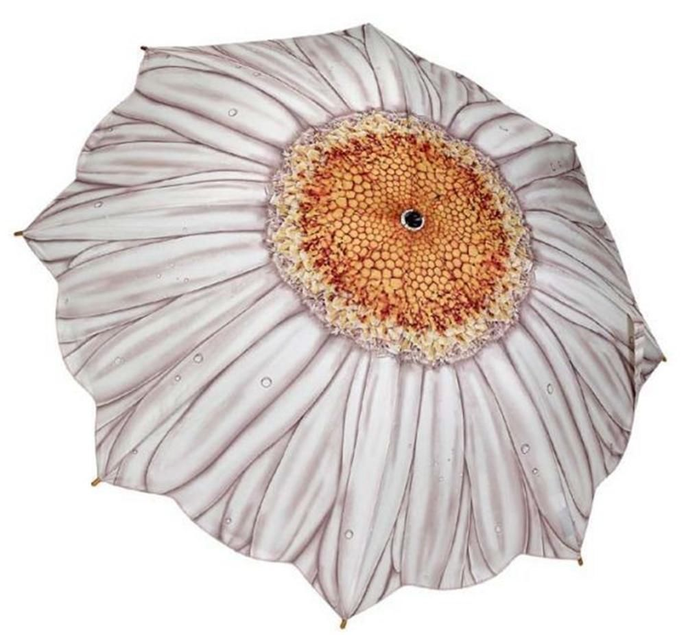 Galleria white daisy folding umbrella galleria compactfolding galleria white daisy folding umbrella galleria compactfolding izmirmasajfo Images