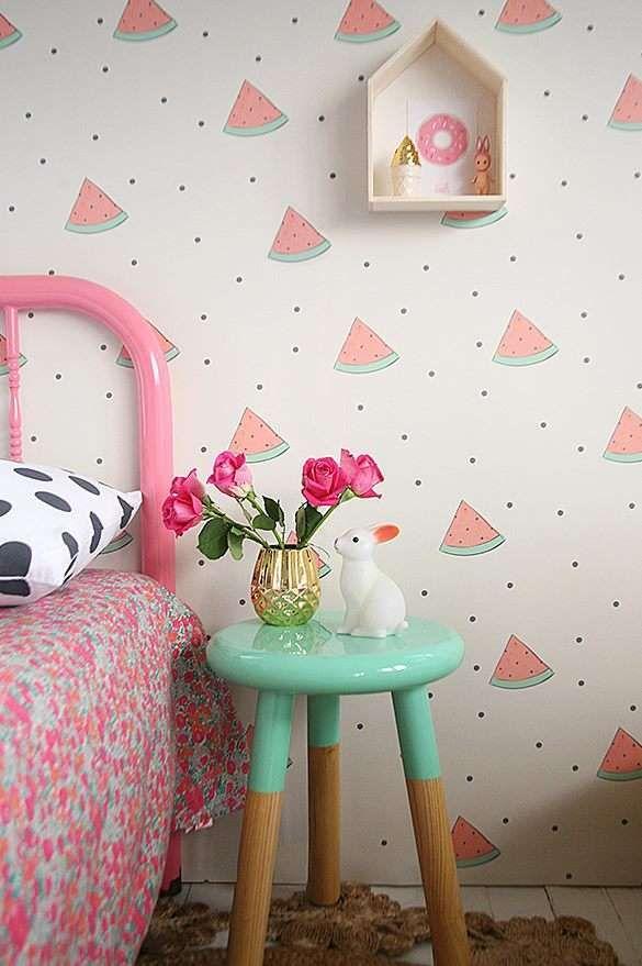 Papeles pintados para niños de frutas Dormitorio, Decoraciones de