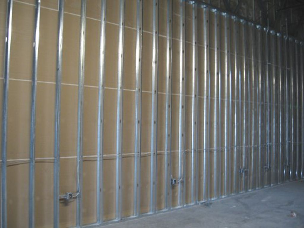 commercial application stud and drywall steel landville studs metal projects contracting