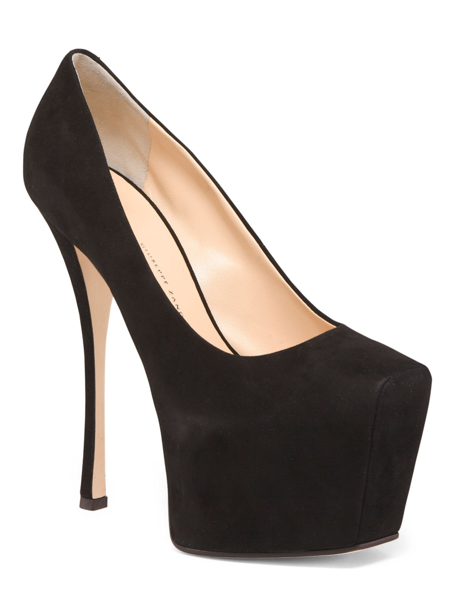5f86602cab062 Made In Italy Suede Platform Pumps | Products | Shoes, Suede ...