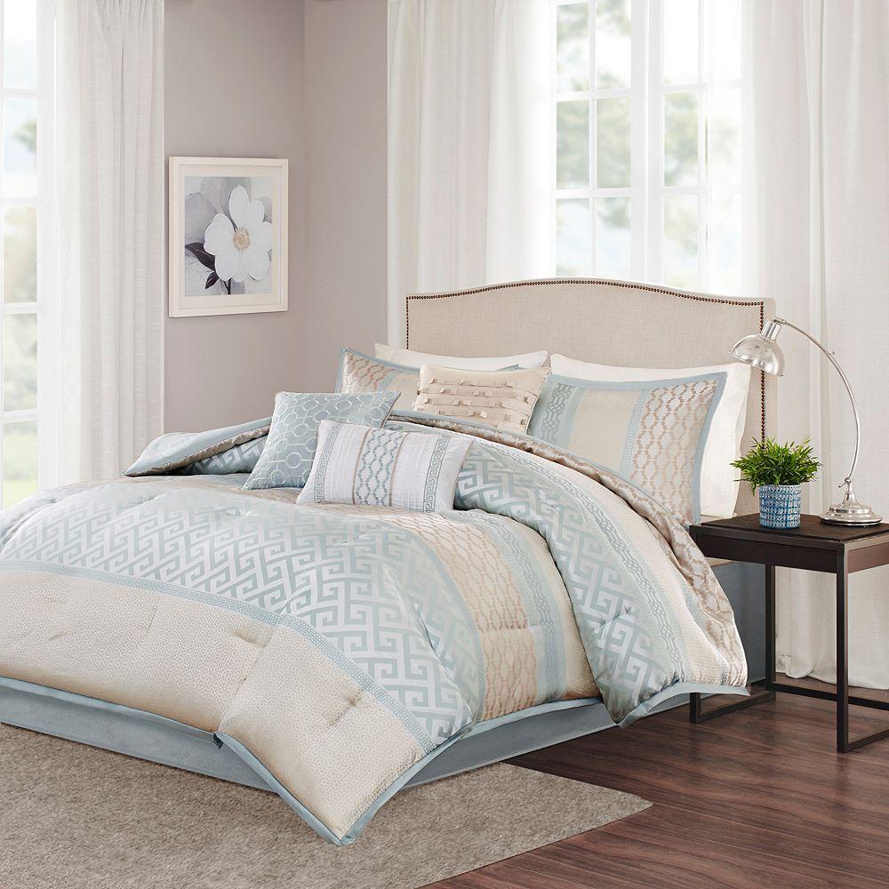 Madison Park Chandler 7 Piece Bed Set Green Comforter Sets
