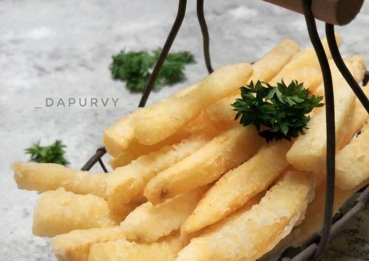 Resep French Fries Crispy Oleh Dapurvy Resep Resep Kentang Goreng Kentang