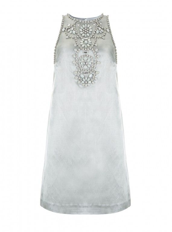 Mint velvet beaded and lace shift dress
