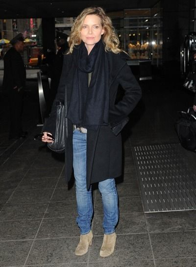 Michelle Pfeiffer casual style.