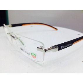 505c30f119e4a Armação Para Óculos De Grau Modelo Tagheuer Sem Aro Th-0843   thaina ...