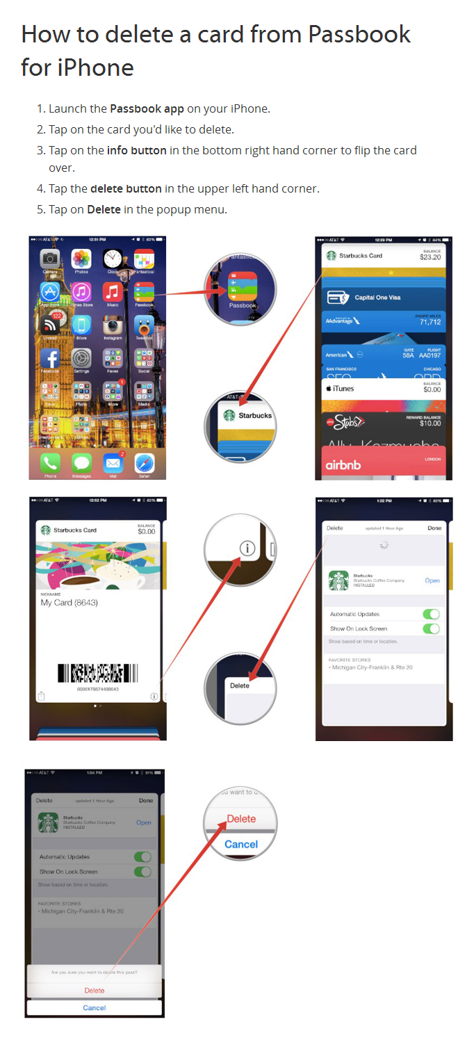 How to delete Passbook cards on iPhone Passbook, Iphone