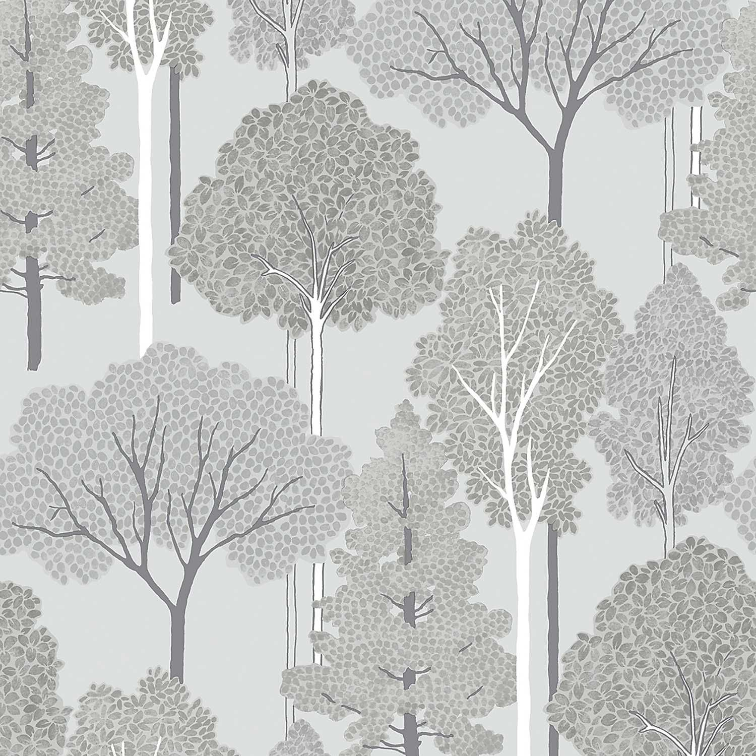 Ellwood Wallpaper - Silver by Arthouse
