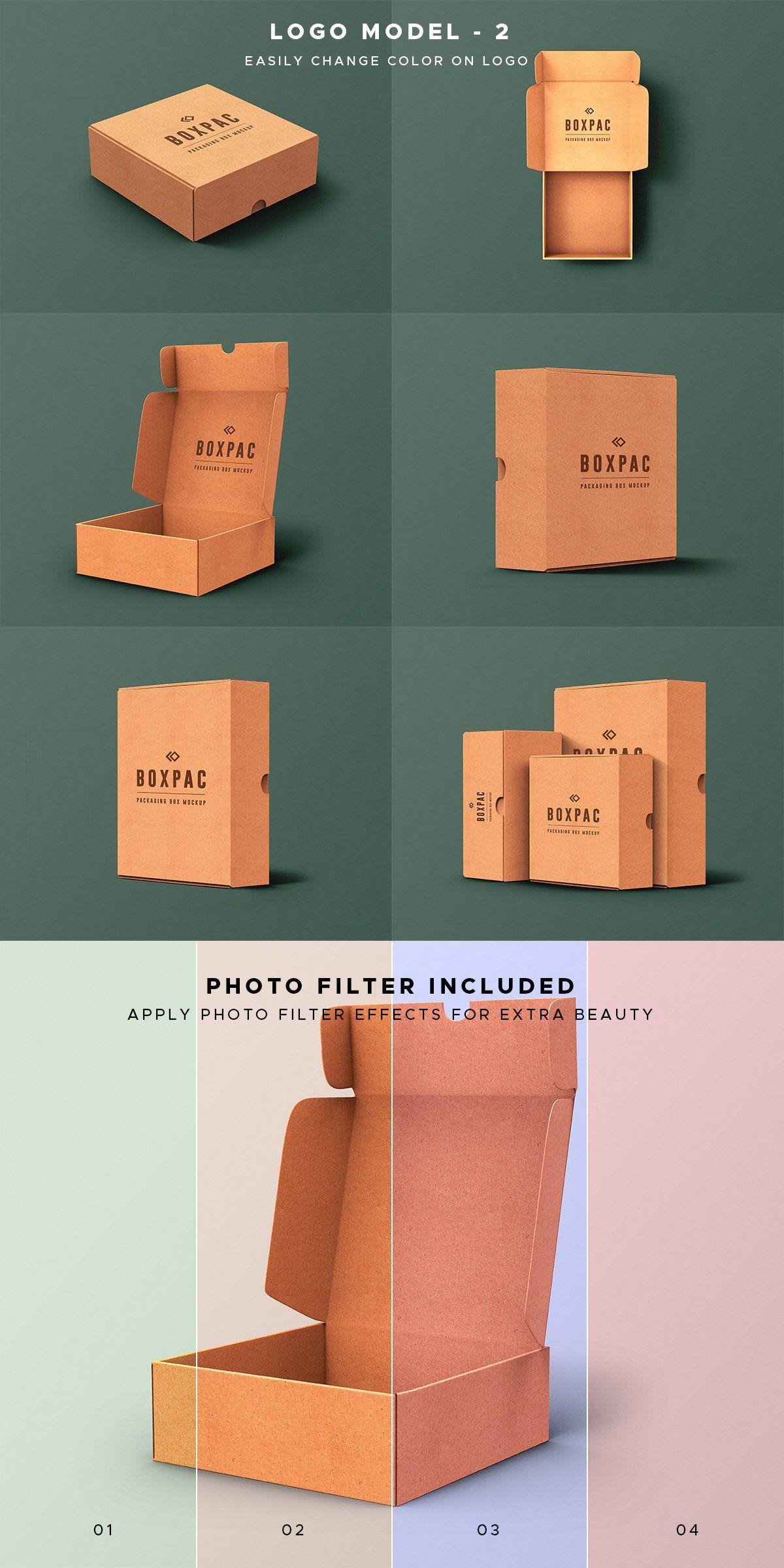 Download Food Packaging Box Mockups Kemasan Produk Kreatif Kemasan