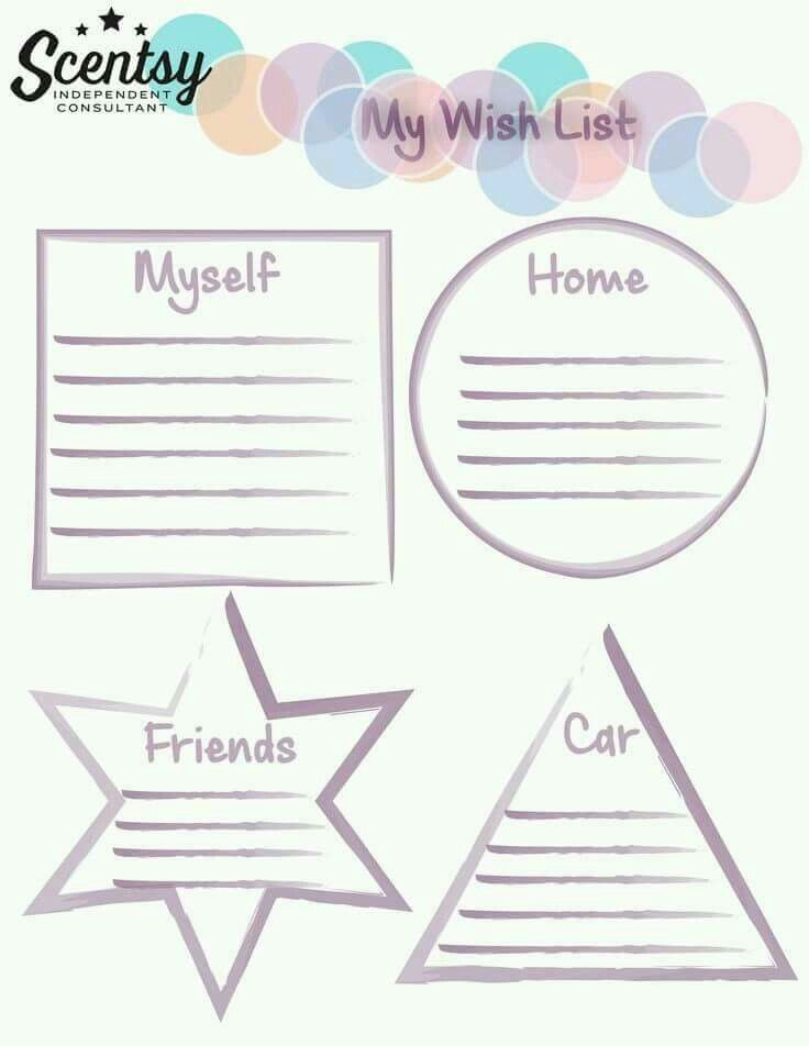 Scentsy wish list