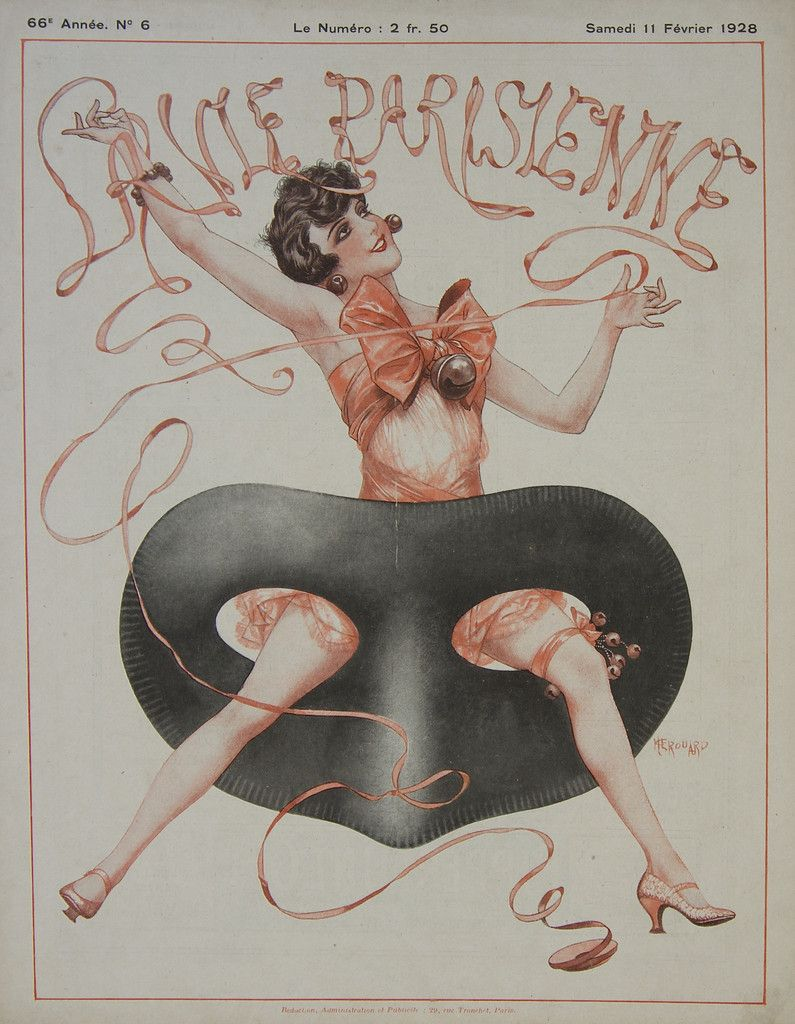 La Vie Parisienne - Bal masqué - February 1928 – Rue Marcellin Vintage French Posters and Prints