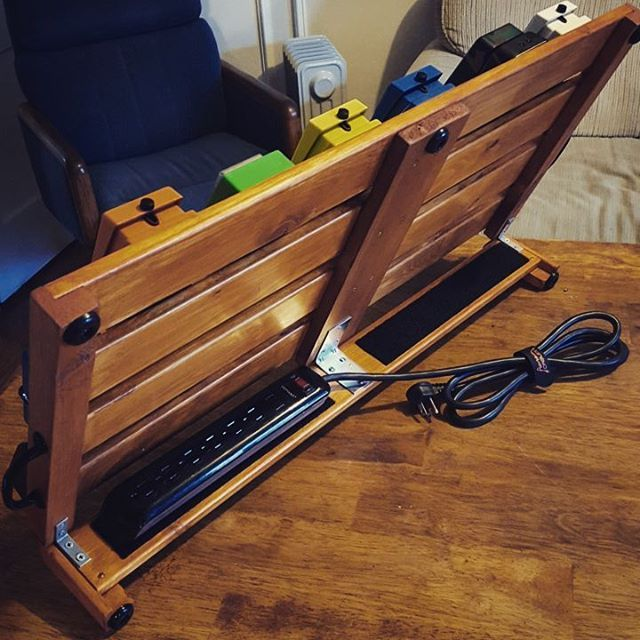 the underside for anyone interested diy pedalboard homemade pedal musician amp shelf. Black Bedroom Furniture Sets. Home Design Ideas