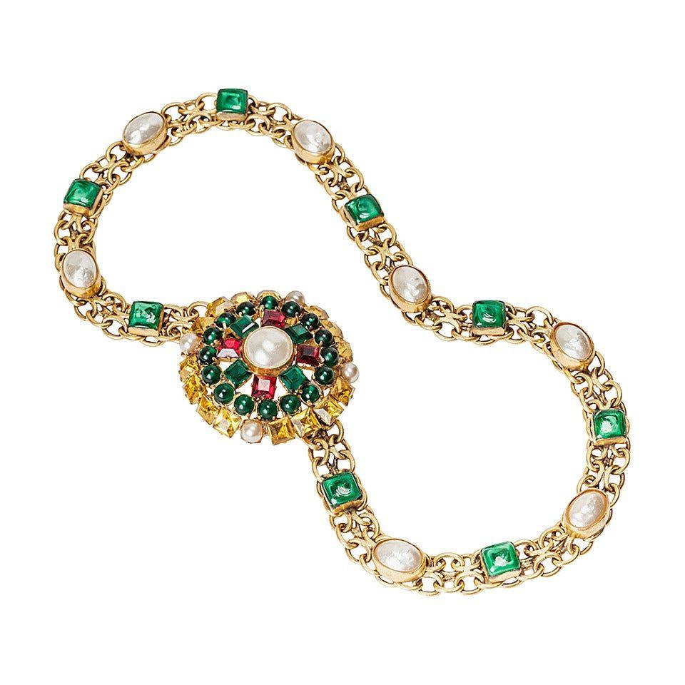 Yves Saint Laurent Goossens Haute Couture Jeweled Belt 1970s In 2020 Couture Jewels Jeweled Belts Yves Saint Laurent