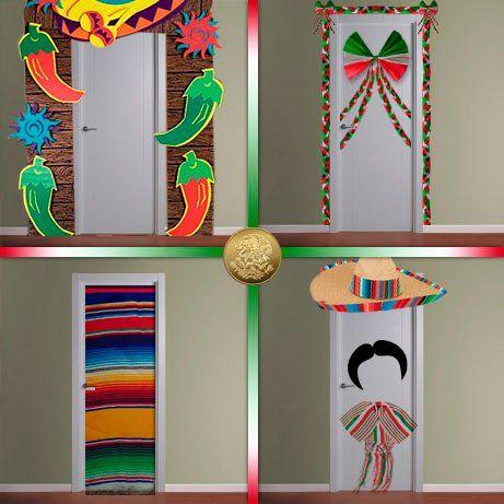 Modatelas una puerta muy mexicana puertas decoradas for Puertas decoradas para el 16 de septiembre