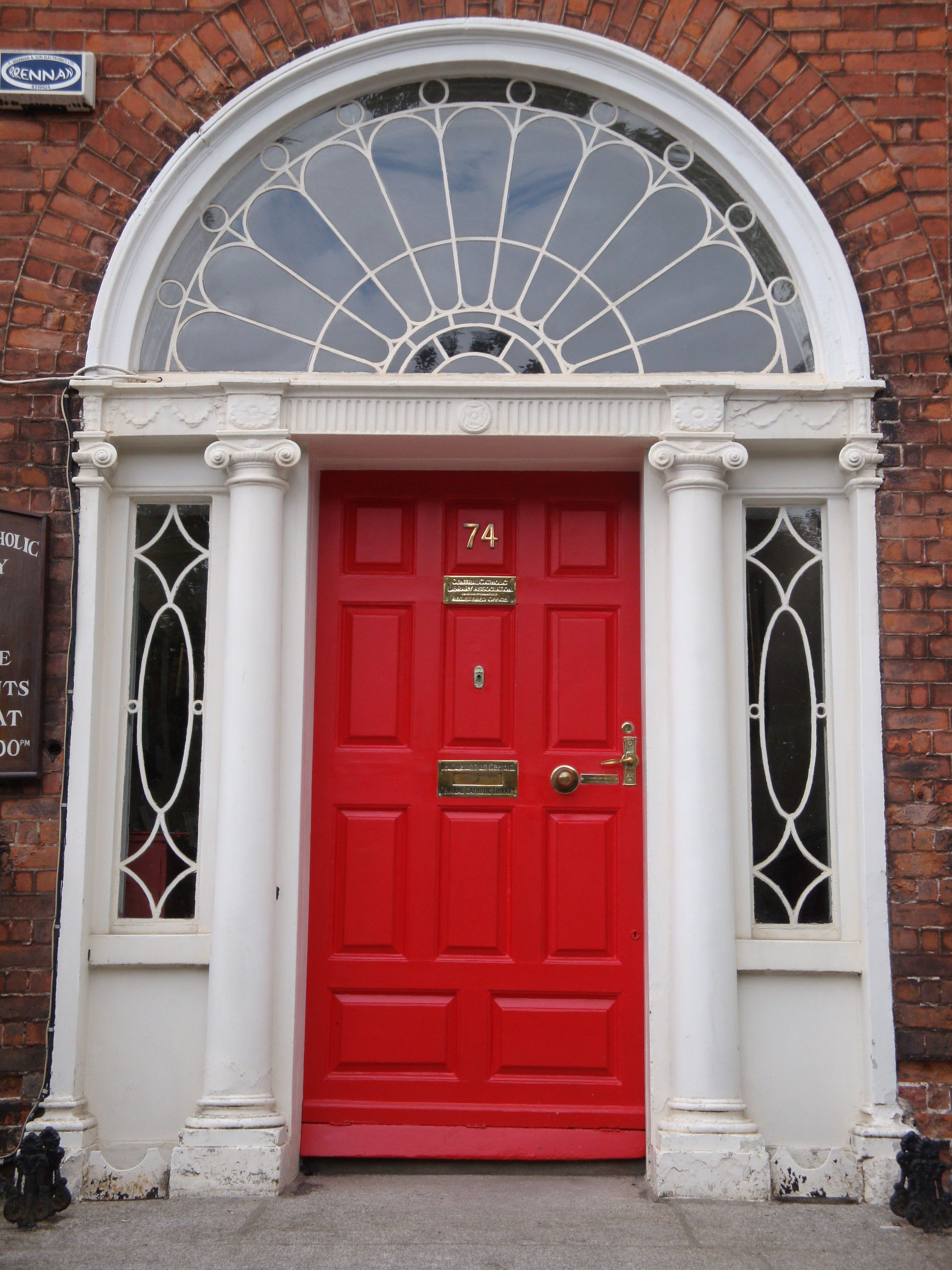Red Georgian Door with fan light . & I just want a red front door on my future house. Not too much to ask ...