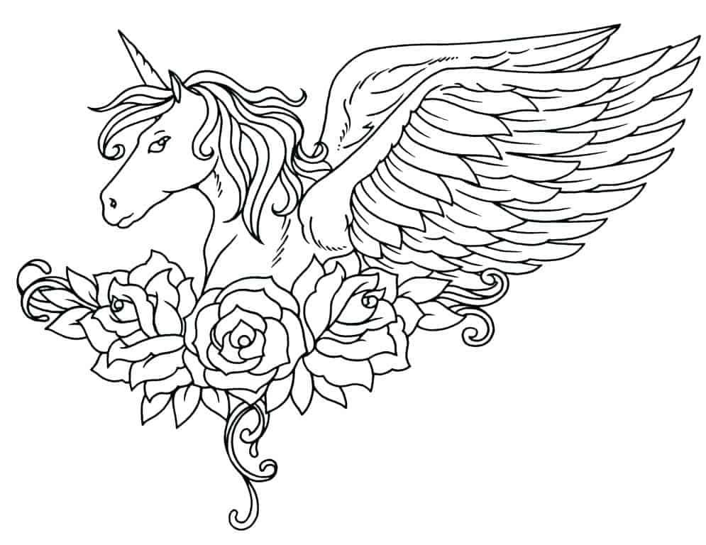 Coloring Pages Unicorn Photos