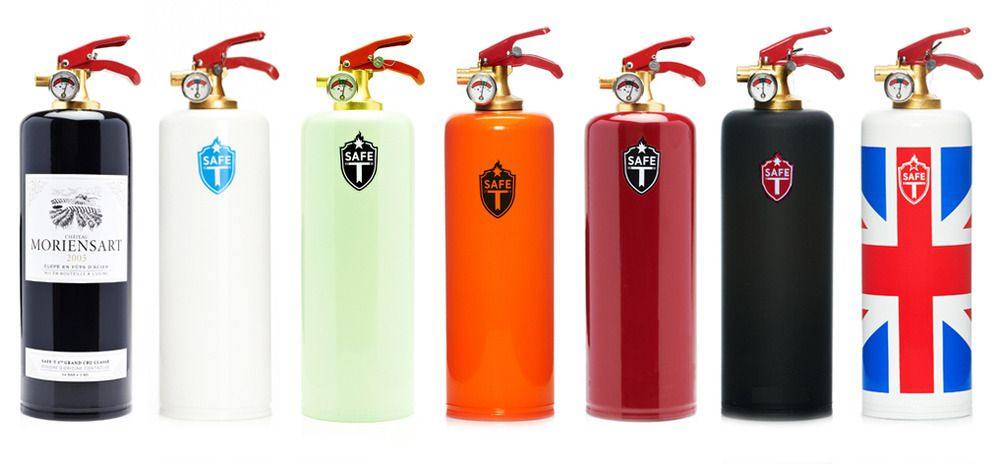 Fight Fire In Style With These Designer Extinguishers Fire Extinguisher House Warming Realtor Gifts