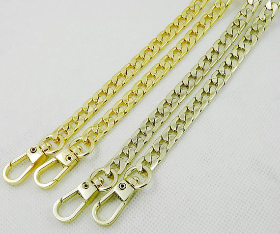 7mm Heavy Duty Metal Purse Chain Crossbody Strap Replacement Sling Bag Clasp Gold Clutch