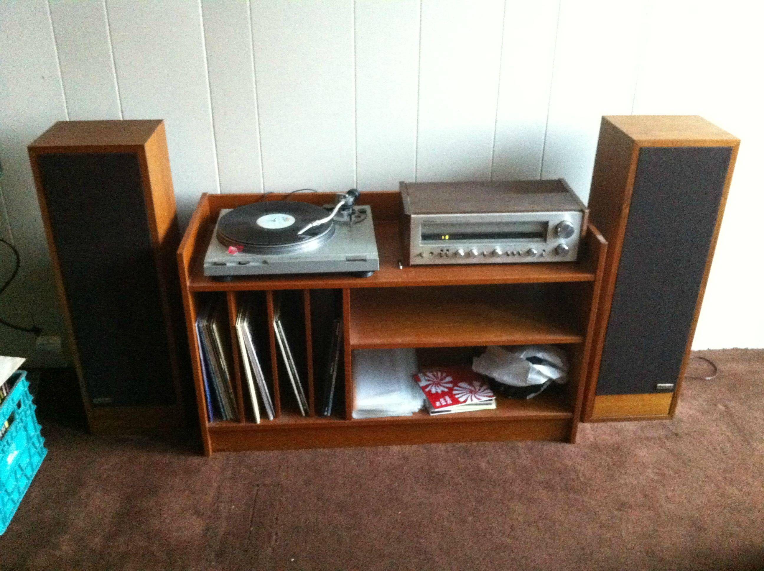 Record Player Set Idea Hifi Furniture Retro Living Rooms Eclectic Room