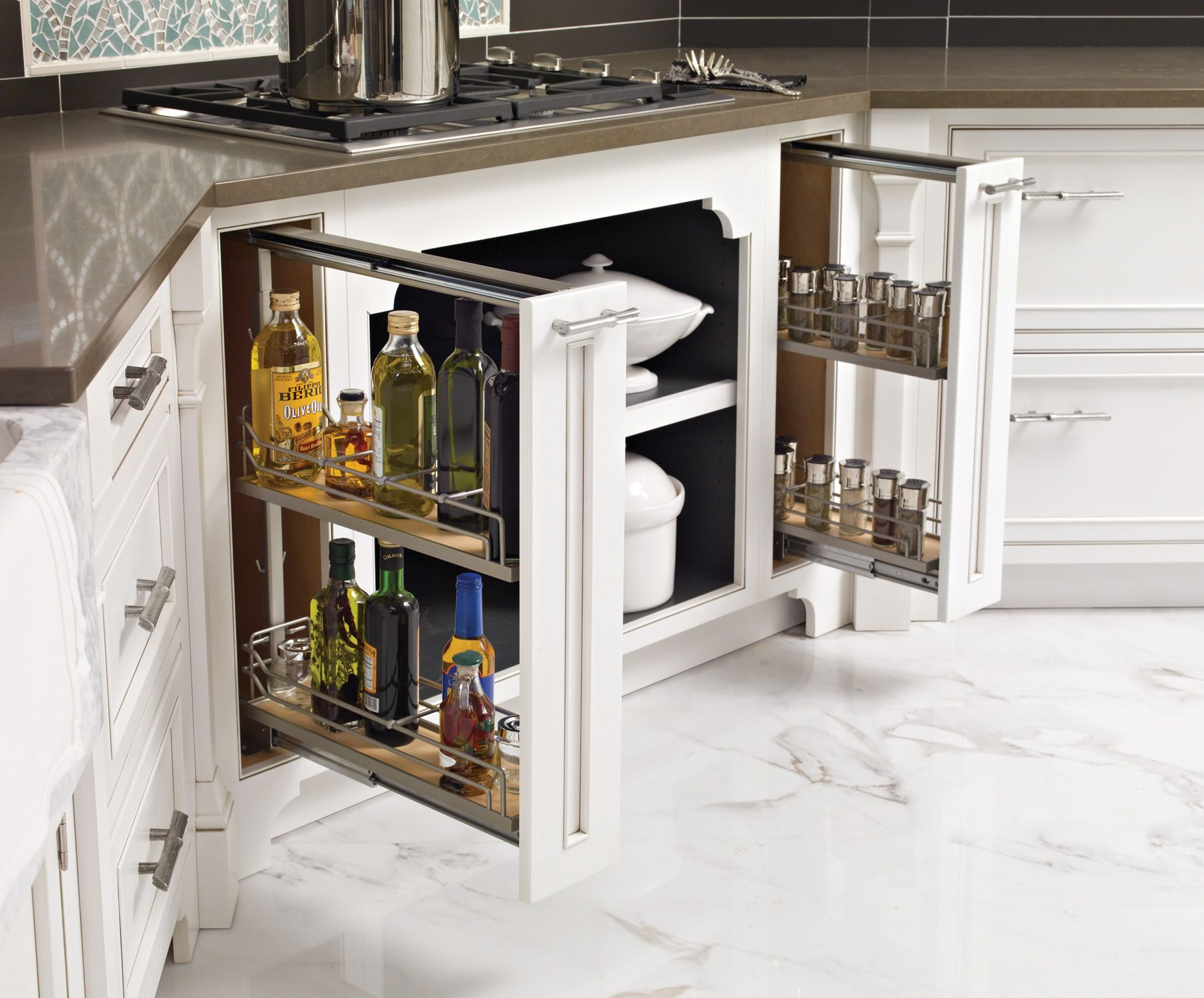 Open With Ease; Organize Spices, And Cooking Oils, Right By The Range.