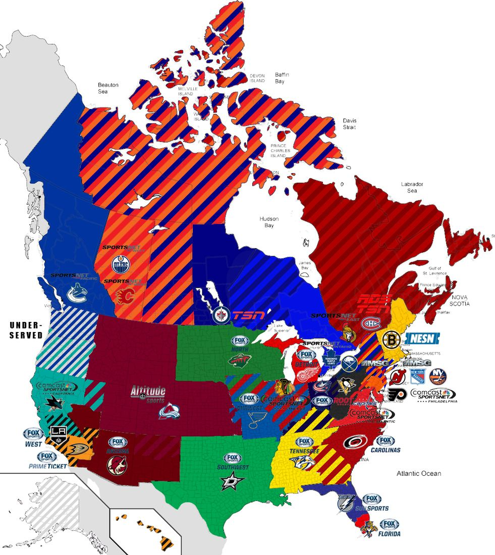 40 Maps And Charts That Explain Sports In America Vox 2015 Nhl