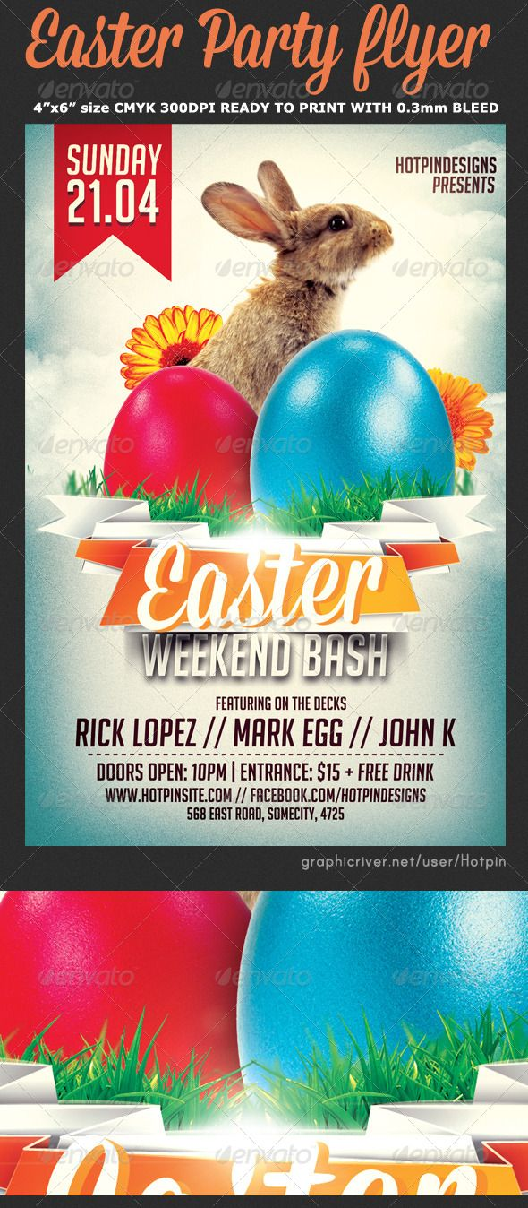 Easter Bash Flyer Template V  Flyer Template Template And Easter