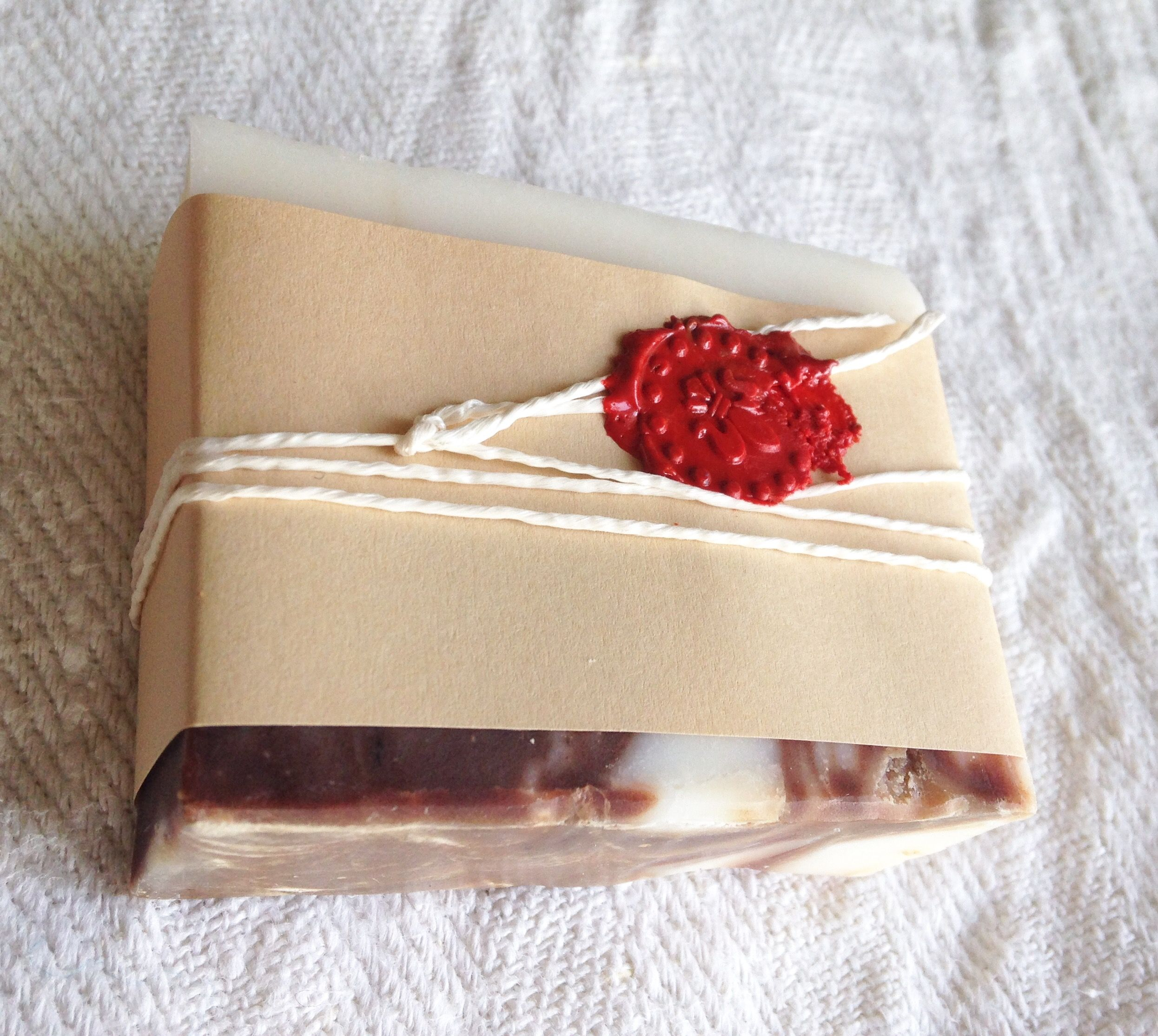 Handmade soap, soap wrapping