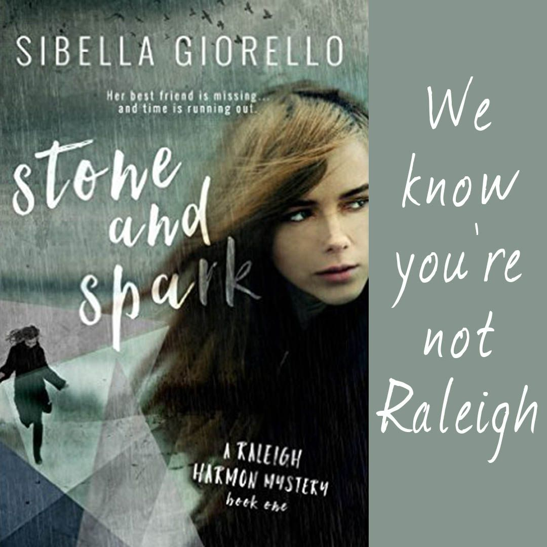"""You're not fooling us."" She turns the notebook, holding up the page so I can see it, showing me my own foot which is somehow evidence that I'm not me. ""We know you're not Raleigh."" We. Not the royal We. The crazy We. Sibella Giorello, Stone and Spark   Excerpt from Stone and Spark #yalit #teasertuesday #amreading http://wp.me/p3Nz8P-Dz"