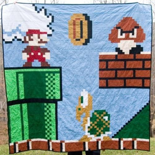 Video game quilts from Carolina Patchworks | Gifts for ::Game ... : video game quilt pattern - Adamdwight.com