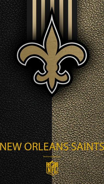 Les New Orleans Saints 4k Le Football Americain Le Logo En Cuir A La Texture De La Nouvelle Orleans Louisiane Nouvelle Orleans Football Americain Football