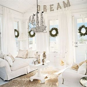 Contemporary Beach House Interiors   White Dreaming_living Room