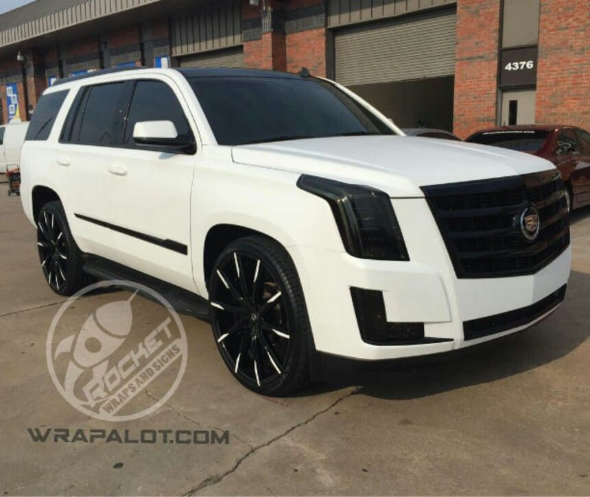 custom black white cadillac escalade luxury cars. Black Bedroom Furniture Sets. Home Design Ideas