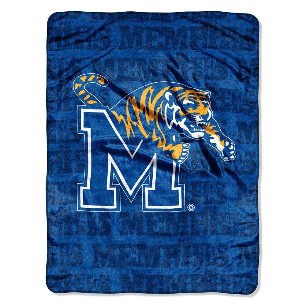 Memphis Tigers NCAA Micro Raschel Blanket (Grunge Series