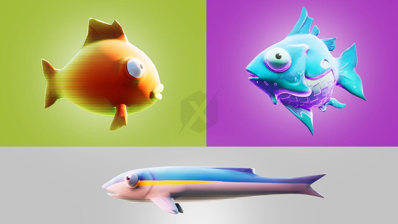 Fortnite 2 Get Health With Small Fish Flopper And Fish Juicy Types Of Fish Fortnite All Fish