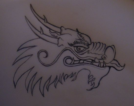 How To Draw A Chinese Dragon Head Step By Step Drawing