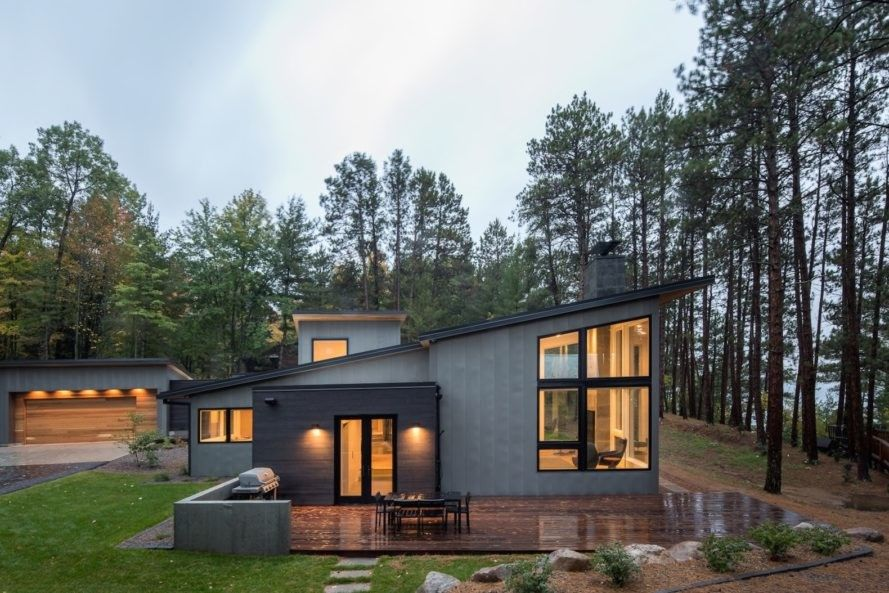 Stunning Home Fuses Modern Scandinavian Design With The Minnesotan Outdoors Modern Lake House Metal Building Homes Lake House
