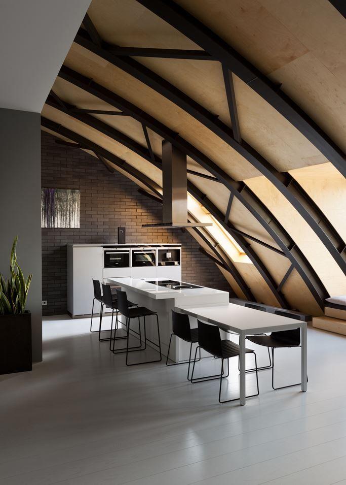Interior design Loft  warehouse apartments Pinterest - interior trend modern gestein