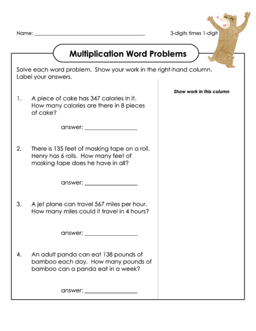 Multiplication Word Problems | Word Problems | Pinterest