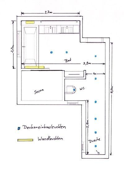 Licht im Badezimmer - Grundriss | Badezimmer | Pinterest ...