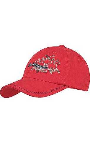 31d1ea930238dd Modisches Baseball-Cap von La Martina in Rot. Mit Logo-Stickerei, aus  reiner Baumwolle.