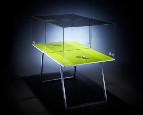Ping Pong Table · Glass Cube Tabletennis Table