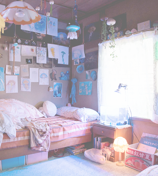 Reminds me of Bee and Puppycat room aesthetics in real