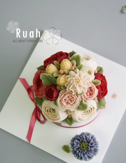 flower rice cake done by me 'Ruah cake'