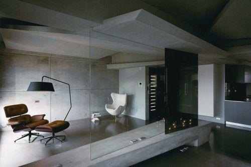 Beton In Interieur : Minimalistische loft met gebruik van beton #concrete #interieur