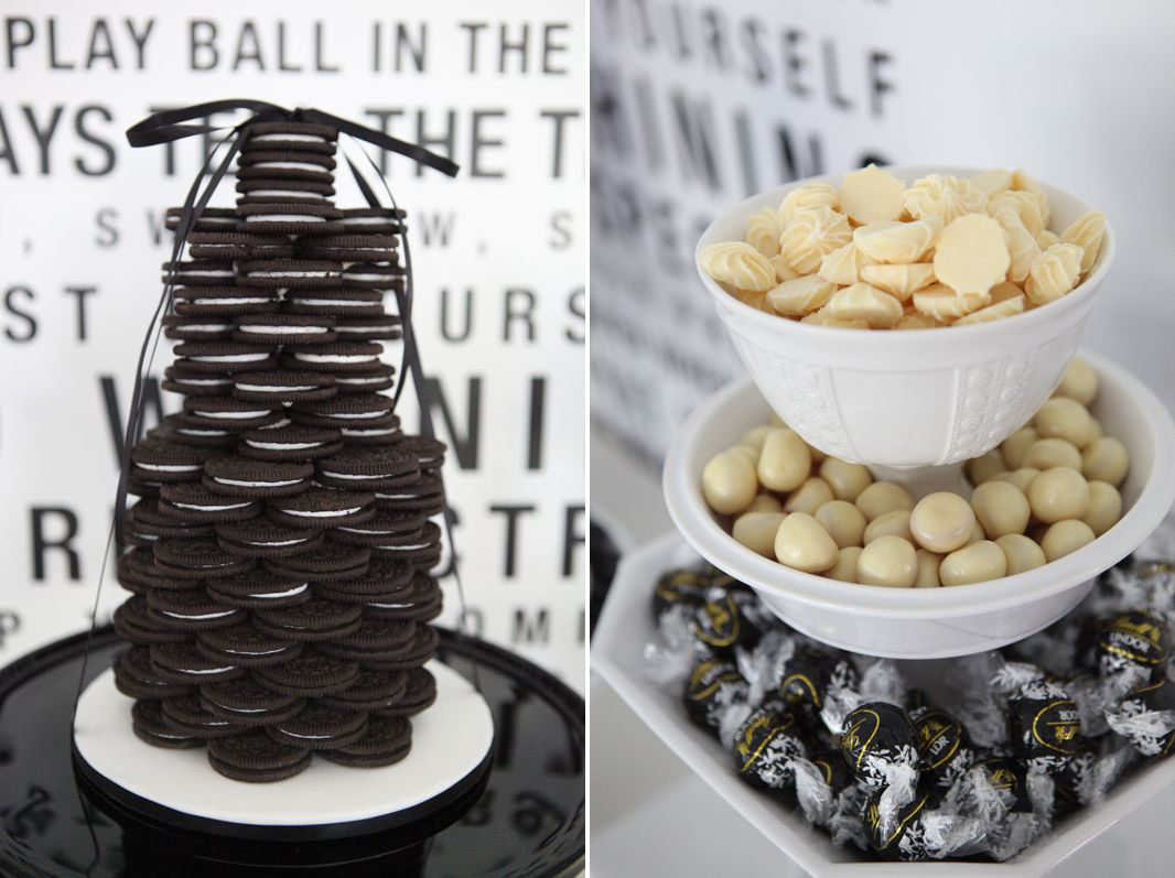 a blissful nest sweet style black white birthday 2 bn black book of parties black and white dessert table