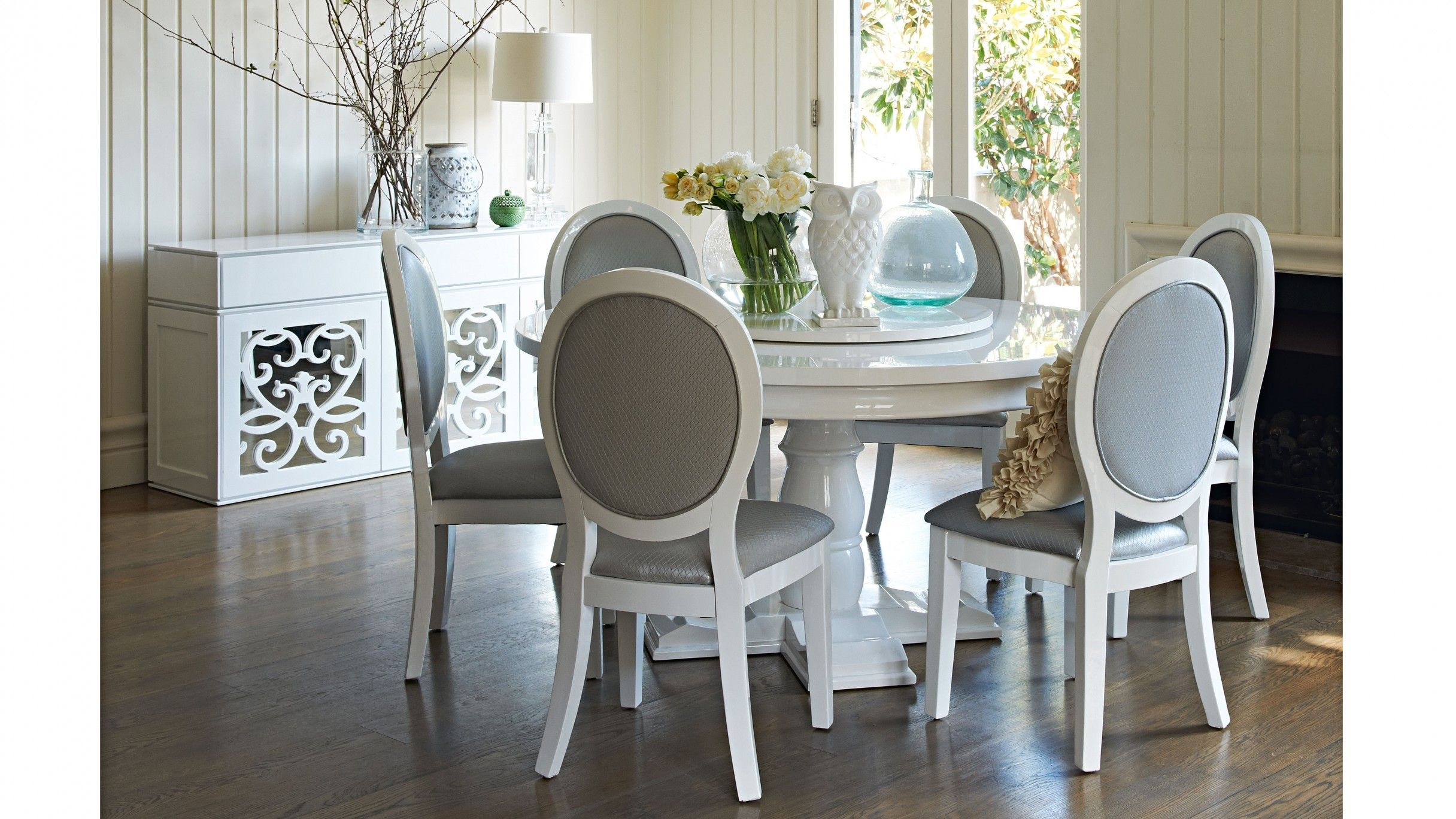 Boheme 7 Piece Dining Setting 7 Piece Dining Set Round Dining Table Table Inspiration